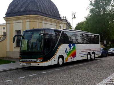 Autobus TransBus podczas jednej z wycieczek